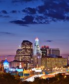 image of charter oak park  - Skyline of downtown Hartford - JPG