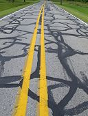 Tar Patched Road