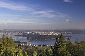 Vancouver Bc Cityscape And Stanley Park