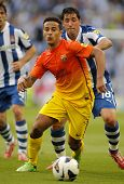 BARCELONA - MAY, 26: Thiago Alcantara of FC Barcelona during the Spanish League match between Espany