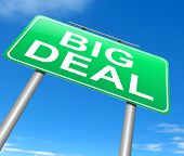 picture of eminent  - Illustration depicting a sign with a big deal concept - JPG