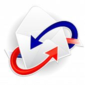 Symbol of incoming and outgoing mail