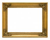 Antique Gold Horizontal Picture Frame