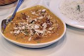 East Indian Food Lamb Korma Curry With Rice