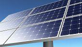 Solar Panel In A Blue Sky