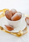 Madeleines Cookies  In A White Cup