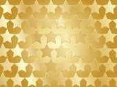 Abstract Golden Stars Background