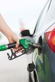 stock photo of gasoline station  - transportation and ownership concept  - JPG