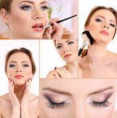 Picture of beautiful make-up collage.
