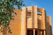 Wooden Bilding From Timber