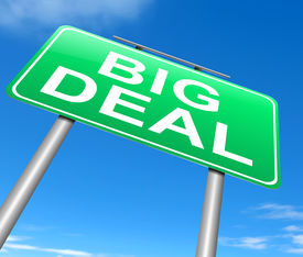 pic of sarcastic  - Illustration depicting a sign with a big deal concept - JPG
