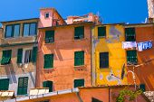 Colorful houses in Portovenere, Italy