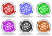 Mail Envelope Web Icon Buttons