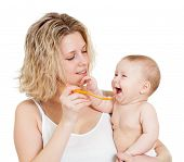 Baby's Feeding By Spoon
