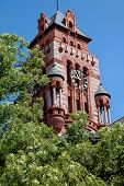 Clock Tower At Courthouse In Waxahachie, Texas