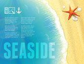 Beautiful Seaside View With Starfish.