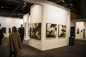 MADRID, SPAIN - 19 FEBRUARY 2014. ARCOmadrid contemporary art fair  begins its 33rd edition. Madrid,