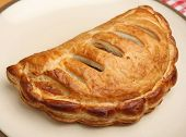 Cornish pastie on plate