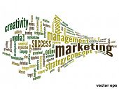 Vector eps concept or conceptual 3D abstract business marketing  word cloud or wordcloud isolated on white background
