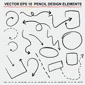 image of pencils  - vector pencil design elements  - JPG