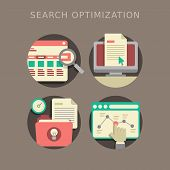 Flat Design Of Search Optimization