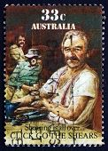 Postage Stamp Australia 1986 Click Go The Shears