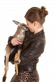 Woman Leather Jacket Kangaroo Kiss