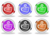 Thumbs Up Share Like Web Icon Buttons