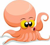 Cute Squid cartoon
