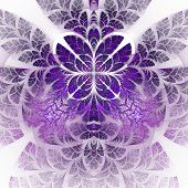 Fabulous Fractal Pattern In Purple. Collectiont - Tree Foliage. Computer Generated Graphics.