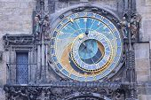 Close view of Prague medieval Astronomical Clock