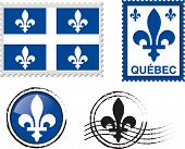 Quebec flag emblem Stamp