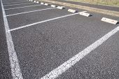 Car parking Lot at outdoor With White Markings