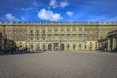 Outer Courtyard At Stockholm's Royal Palace
