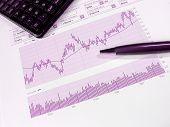 stock photo of nyse  - Stock market chart for investor analysis - JPG