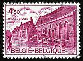 Postage Stamp Belgium 1975 Hospice Of St. John, Bruges