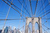 The Brooklyn Bridge detail New York City
