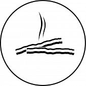 hot bacon symbol