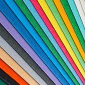 Colorful Paper Arrangement