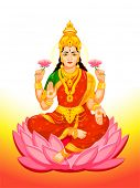 stock photo of goddess  - Hindu Goddess Lakshmi of wealth - JPG