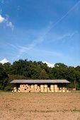 storage of hay bale