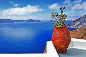 scenic Santorini island