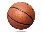 Orange basket ball, isolated on white background