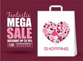 stock photo of pink shoes  - Mega Sale Poster - JPG