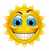 Sun Character Smiling