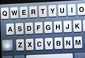 picture of qwerty  - Qwerty keyboard on tablet - JPG