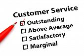 Customer service performance form