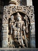 stock photo of belur  - Sculpture at an old Hindu temple in Belur - JPG