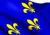 Flag Of Ile-de-france