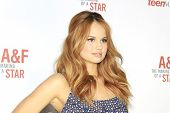 LOS ANGELES - FEB 22: Debby Ryan at the Abercrombie & Fitch 'The Making of a Star' Spring Campaign P